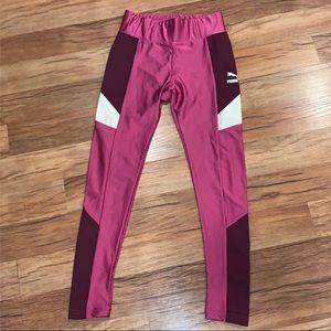 Puma Retro Pink Silky Legging Pants XS